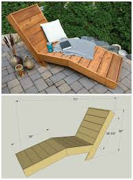 Nice Diy Chaise Lounge With Wooden Chair Plans Sign In To See Details And