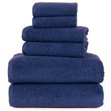 lavish home 8 piece egyptian cotton plush bath towel set hayneedle