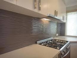 Textured Glass Adds A Unique Finish To The Kitchen Pattern Is Wall
