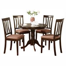 East West Furniture Antique 5 Piece Pedestal Round Dining Table Set With  Microfiber Seat Table Round Kitchen Sets For 6 Solid Wood Small And Chairs The Nook A Casual Kitchen Ding Solution From Kincaid Fniture 1990s Mission Stickley Oak Ding Nottingham Rustic Black Room Set Enchanting Argos Charming Podge 5 Pc Kngs Brand Metal Dnng Blank Slate Coffee Buy Online At Overstock Our Best Antique Classic Single Pedestal By Intercon Wayside