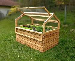 Raised Bed Cold Frame A Combination With Made Of Larch Is Available