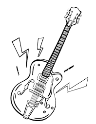 Free Guitar Coloring Page
