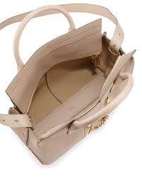 chloé cate medium doublezip satchel bag in natural lyst