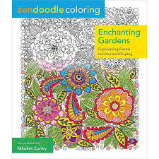 Enchanting Gardens Captivating Florals To Color And Display Coloring Book Zone