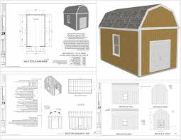 10 X 16 Shed Plans Gambrel by G530 12 X 20 X 10 Slab Gambrel Barn Dwg And Pdf Awesome 20 X 40