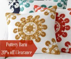 Pottery Barn  off Clearance Promo Code Southern Savers