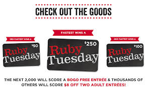 Ruby Tuesday Bogo Printable Coupon : Ice Coupon Code Gaylord ... 14 Ruby Tuesday Coupons Promo Coupon Codes Updates Southwest Airline Coupon Codes 2018 Distribution Jobs Uber Code Existing Users 2019 Good Buy Romantic Gift For Her Niagara Falls Souvenir C 1906 Ruby Red Flash Glass Shot Gagement Ring Holder Feast Your Eyes On This Weeks Brandnew Savvy Spending Tuesdays B1g1 Free Burger Tuesdaycom Coupons Brand Sale Food Network 15 Khaugideals Hyderabad Code Tuesday Morning Target Desk