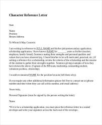 Character Reference Letter Samples Template The Free Website