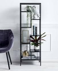 schwarzes metallregal narrow nordal minimalistisches