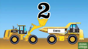 Wheel Loaders & Dump Trucks Teaching Numbers 1 To 10 - Learning ...