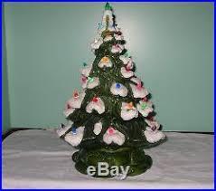 Vintage Atlantic Mold Ceramic Christmas Tree by Vintage Atlantic Mold Ceramic Christmas Tree Box Flocked