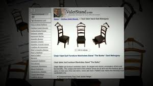 Mens Dresser Valet Plans by Chair Valet Stand Valetstand Com 1 888 689 4450 Youtube