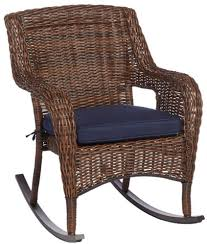 Rocking Chair: Hampton Bay Cambridge Brown Wicker Outdoor Rocking ...