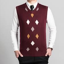 mens argyle sweater vest custom men knitted sleeveless argyle