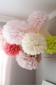 Paper Flower Balls To Hang From Ceiling Tissue Pom Poms Tutorial