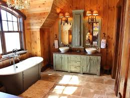 exciting rustic bathroom lighting ideas diy wood beam light for