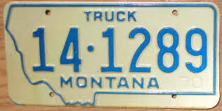 100 Truck License 1970 Montana Truck Exc Automobile Plate Store