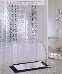 Modern Shower Curtain with Long Design and Transparent Unique