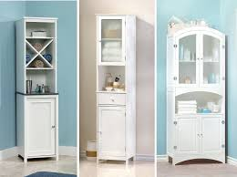 Free Standing Storage Cabinets For Bathrooms by Endearing White Bathroom Storage Cabinet Bathroom The Evideco
