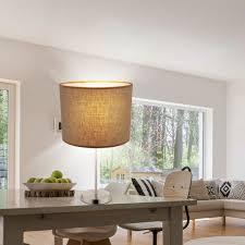 etc shop tischleuchte tisch leuchte esszimmer küchen beistell le stoff schirm schalter im set inkl led leuchtmittel kaufen otto