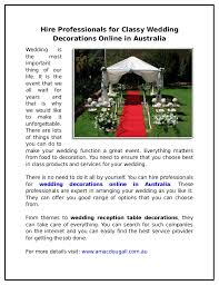 Buy Wedding Decorations Online Australia Image Collections Reception Images Decoration