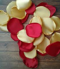 Gold And Red Wedding Decor Decorations Rose