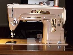 Vintage Kenmore Sewing Machine In Cabinet by Beautiful Blue All Metal Modernage Precision Made Sewing Machine W