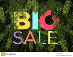 Big Winter Sale Banner Vector Label Green Fir Tree Branches And Text