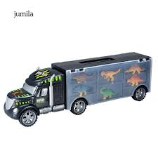 100 Toy Car Carrier Truck JULA Simulation Transport Rier With Dinosaur Model Educational Kids
