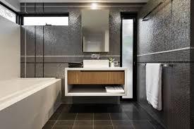Bathroom Calmly Grey Interior Design Ideas Plus Floating Vanity