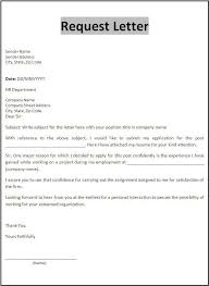 Request Letter Template Templates Pinterest