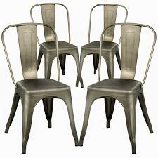 Dining Chairs Set Of 4 Metal Chairs Patio Chair Dining Room Kitchen Chair  18 Inches Seat Height Tolix Restaurant Chairs Trattoria Metal Indoor  Outdoor ... Kings Brand Fniture 3 Piece Bronze Metal Square Ding Kitchen Dinette Set Table 2 Chairs Elixir 80in Rectangular With Base By Hooker At Dunk Bright Costway 5 4 Wood Breakfast Chic Gray Room With Rustic And Vintage Louis Pair Of Silver Velvet Mirrored Legs Vida Living Tempo Glass C1860p Industrial Round Lifestyle Sam Levitz Fixer Upper A Contemporary Update For A Family Sized House Hot Item Cheap Leg Chair Vecelo Sets Pcs Embossed White Montello 3piece Old Steel