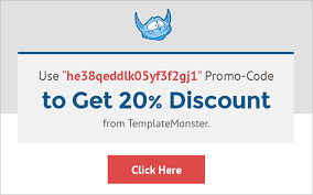 Template Monster Coupon Code For January 2016 20 Off