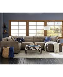 Macys Radley Sleeper Sofa by Elliot Fabric Microfiber 3 Piece Chaise Sectional Sofa Furniture