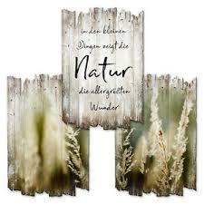 details zu natur deko 3er wandbilder shabby holzschild landhaus deko wohnzimmer