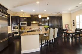 Kitchens With Dark Wood Floors Pictures Home Improvements Kitchen Gallery Featuring The Contrast Between Different Types