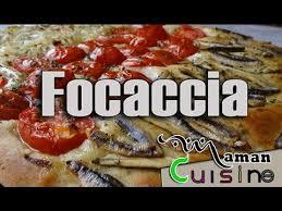 recette de la focaccia aux anchois avec une pâte maison maman