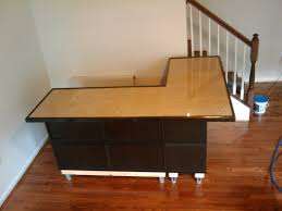 Ikea L Shaped Desk Black by L Shaped Desk With Hutch Ikea With Elegant Brown And Black Theme