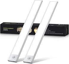led unterbauleuchte wiederaufladbare led leiste 54 leds küchenbeleuchtung mit bewegungsmelder schrankleuchten lichtleiste schranklicht für