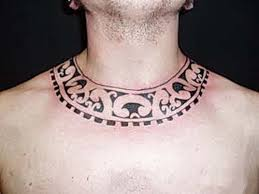 Nice Tribal Necklace Tattoo