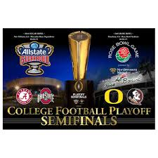 2015 College Football Playoff Semi Finals Horizontal Poster