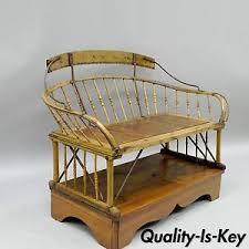 antique buggy bench hall seat sleigh primitive folk art wagon wood