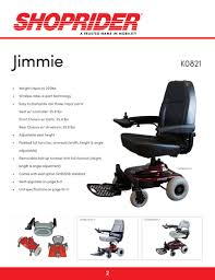 Shoprider Power Wheelchair Manual by Power Chairs Shoprider Mobility Products Inc