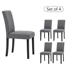 Amazon.com - LSSBOUGHT Set Of 4 Classic Fabric Dining Chairs Dining ... Luxury Upholstered Ding Chair Swanky Interiors New Classic Fniture Ava In Distressed Ash Set Of 2 San Juan D226420 Wood With Slat Back Bl1 Teak House Denmark Pine Chairs Of White And Brown Free Natick Handcrafted X Reclaimed Nantes Fabricwood By Homelegance Sohodcom Newton Block Carving Round Table For 10 People With Purple Caf Walnut West Elm Uk Contemporary Classics Scdinavian Natural Wood Ding Chairs My