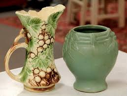 FOUND in ITHACA  Vintage McCoy Ewer & Nelson McCoy Leaves and