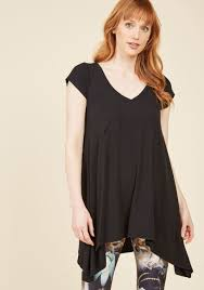 a crush on casual tunic in black modcloth