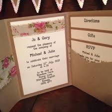 Rustic Pocketfold Invitation Wedding Invitations Southampton