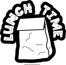 Lunch Clipart Black And White 7