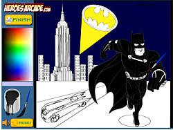 Play Batman Cartoon Coloring Game Online