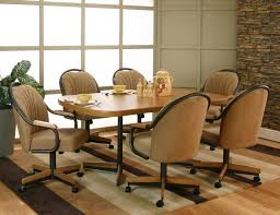Swivel Caster Dining Chairs | Best Of Swivel Dining Chairs With ...